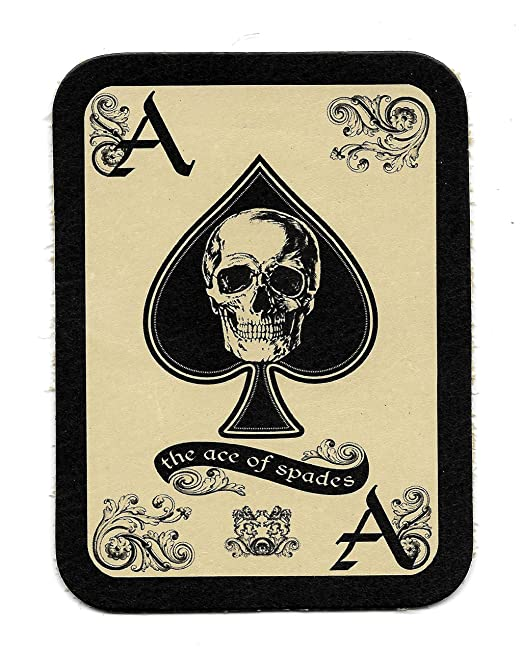 spade death card  Ace of Spades Death Card Leather Patch