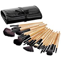 Amazon Brand - Solimo Makeup Brush Set, 24 Pieces with PU Leather Case