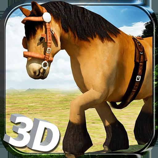 Wild Horse Simulator 3D Run - Free Horse Riding, Endless Running, Jumping & Jungle Simulation Game - Horse Games Free