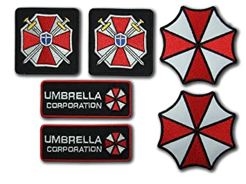 Resident Evil Umbrella Corporation Costume Cosplay Fancy vestido hierro en Patch – Set of 6 –