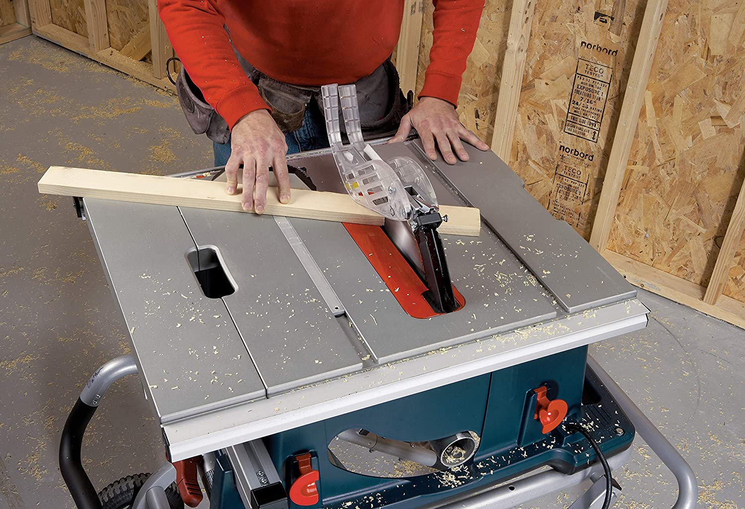 demonstration of bosch table saw