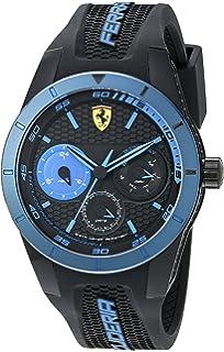 6424807eafe Ferrari Men s 0830256 REDREV T Analog Display Japanese Quartz Black Watch