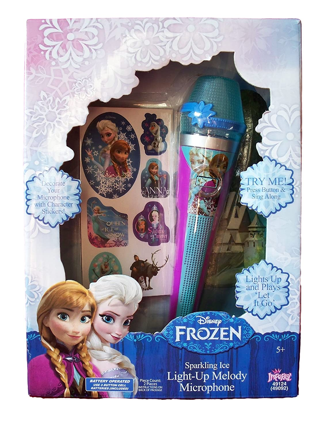 Frozen Sparkling Ice Light Up Melody Microphone Imperial