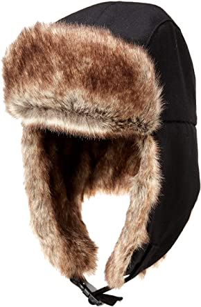 Sheepskin Trapper Hat Dark Brown