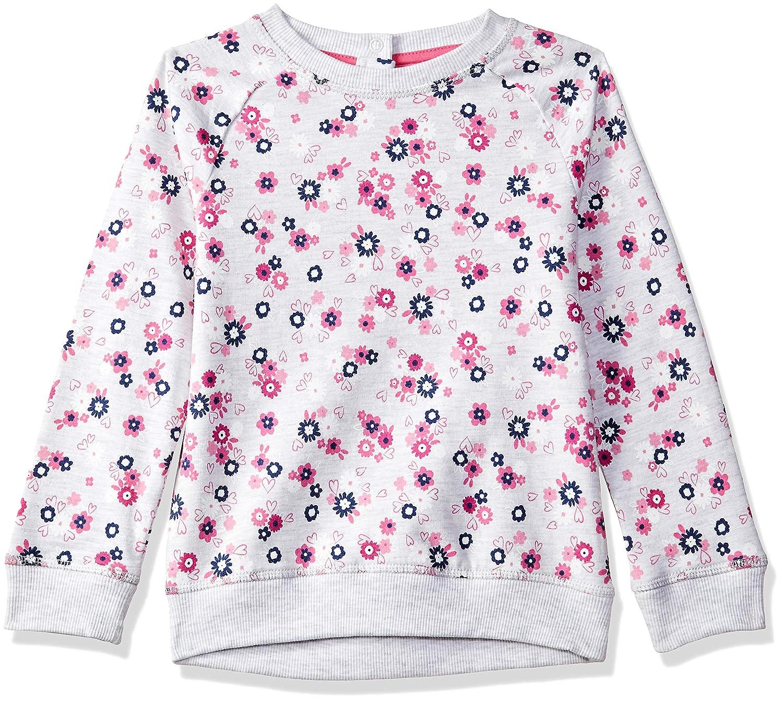 Mothercare Baby Girls' Grey Flower Sweat Sweatshirt 6-9 Months (Size: 74) QB532