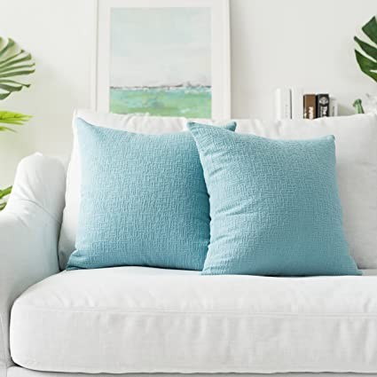 Kevin Textile Decorative Pillows, Velvet Solid Striped Throw Cushion Cover  Sham Pillow Cover Soft Sofa