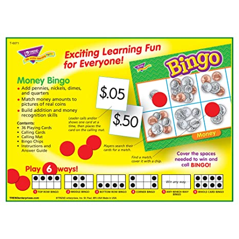 Amazon.com: Money Bingo Game: Office Products