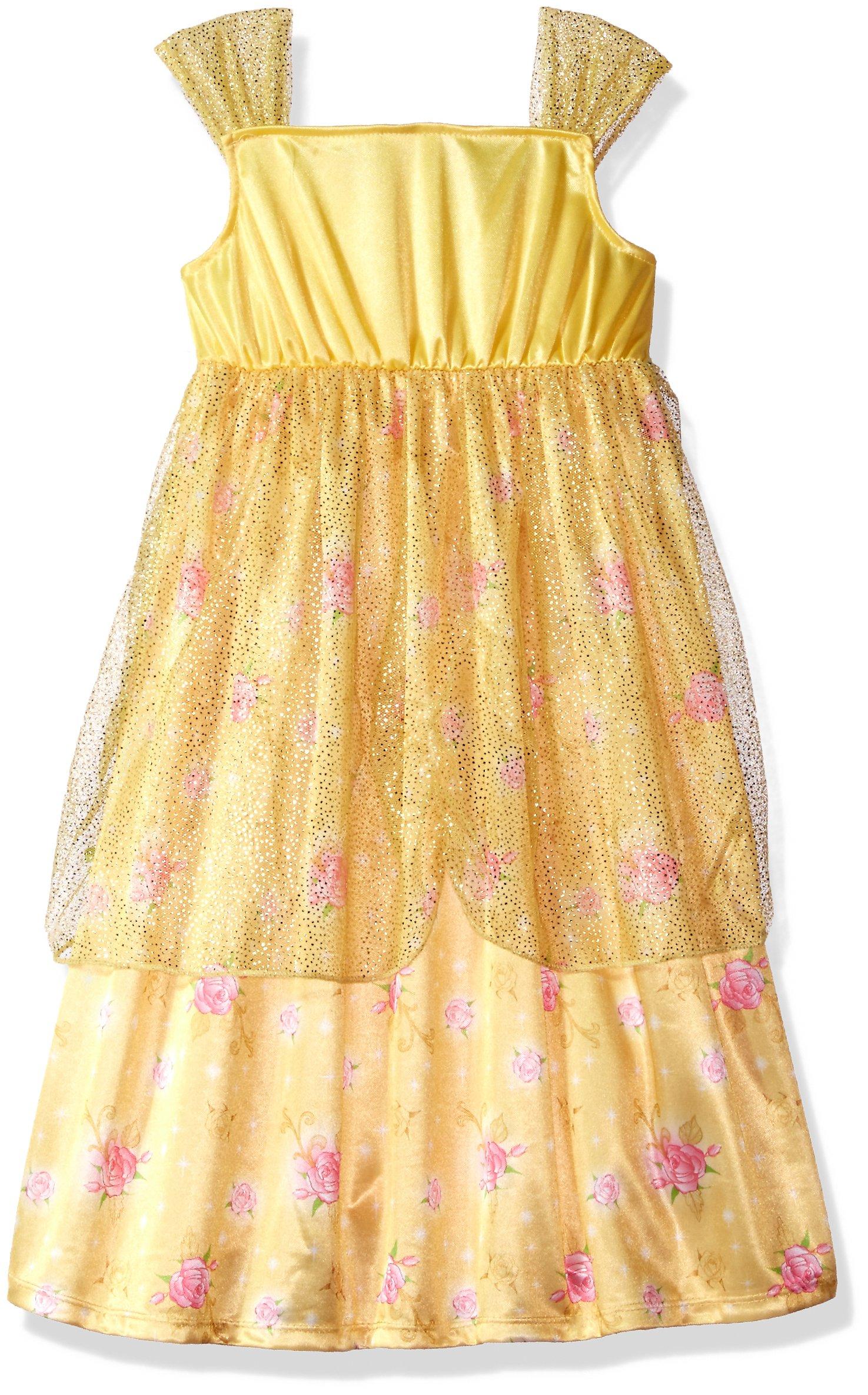 Disney Big Girls\' Fantasy Nightgowns, Belle Gold, 8 - 21DP243GGTAZ ...
