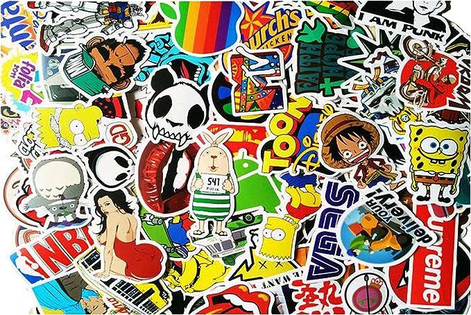 100 pcs Sticker Bomb vinilo adhesivo rollo para coche Skate ...