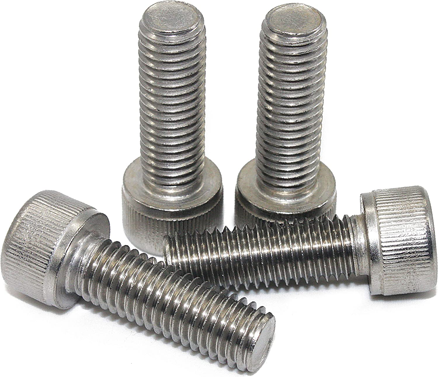 Din 912 AISI 304 Stainless Steel Full Thread Quantity 50 Machine Thread Bright Finish Fullerkreg 0.8mm Pitch M5 x 12MM Socket Head Cap Screws Allen Socket Drive 18-8