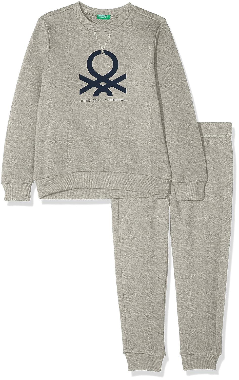 UNITED COLORS OF BENETTON Set Sweater+Trousers, Ensemble Garçon (Lot de 2) 3J68Z11NH