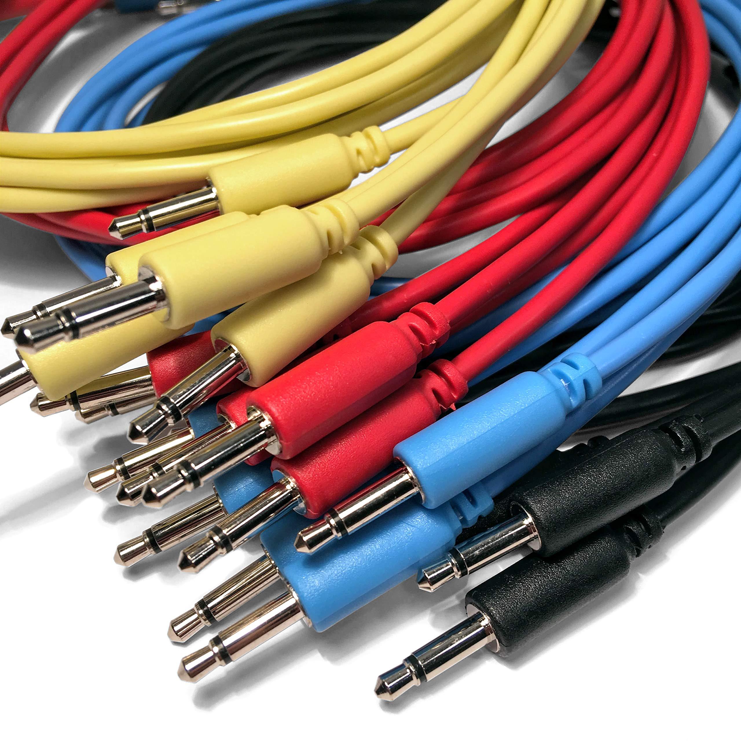 lot de 5 5 longueurs // 7 couleurs disponible Eurorack c/âbles de patch mono mini jack 3,5mm