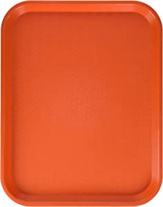 Winco Fast Food Tray, 14-Inch by 18-Inch, Orange