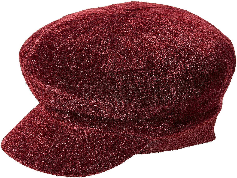 New Look Women's 5679357 Porkpie Hat, Red (Dark Burgundy), One (Size: 99)