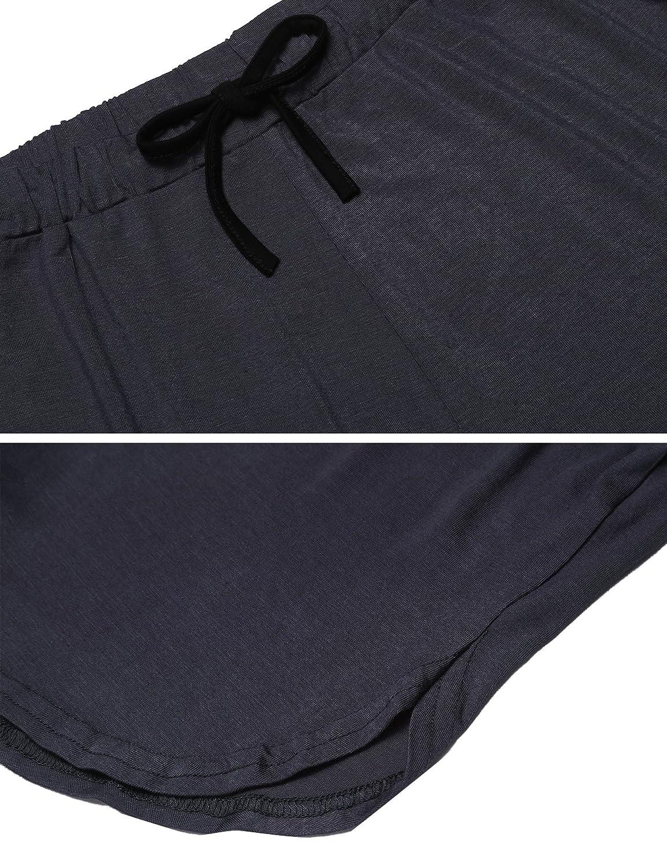 Ekouaer Pajama Set for Women Short Sleeves Sleepwear V Neck Nightwear Cotton PJ Shorts