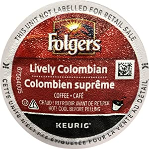 Folgers Gourmet Selections Lively Colombian Coffee K-Cups, 24 Count (Pack of 4) - Packaging May Vary