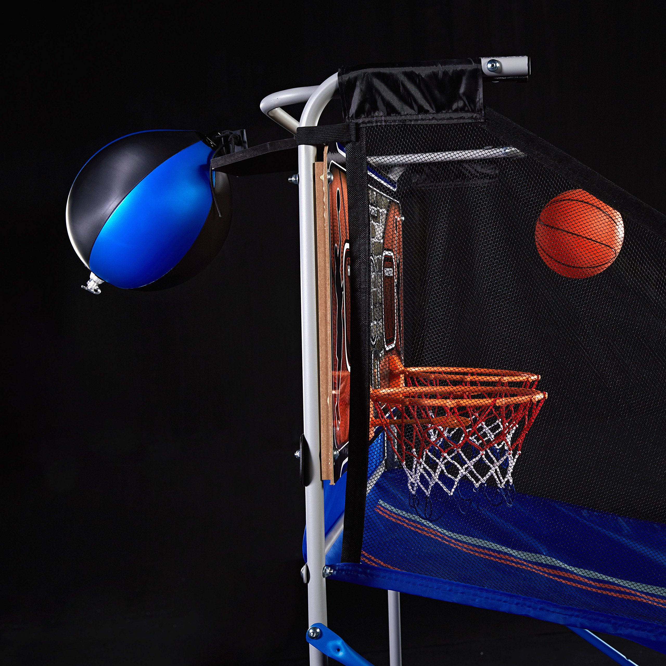 MD Sports BBG019_067M 4 in 1 Junior Basketball Game (Basketball, Soccer, Boxing & KNEE Hockey), Blue by MD Sports (Image #9)