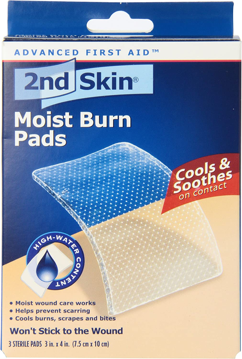 Spenco 2nd Skin Moist Burn Pads, Large (3 x 4 Inches), 3-Count: Industrial & Scientific