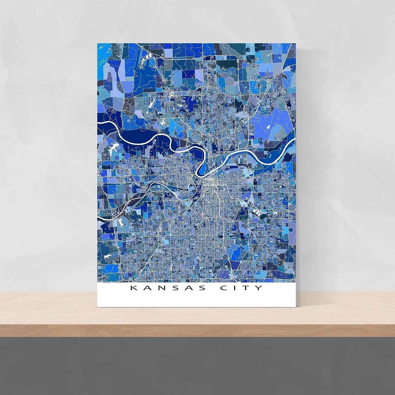 Amazon.com: Kansas City Map Print, Wall Art, Missouri ...