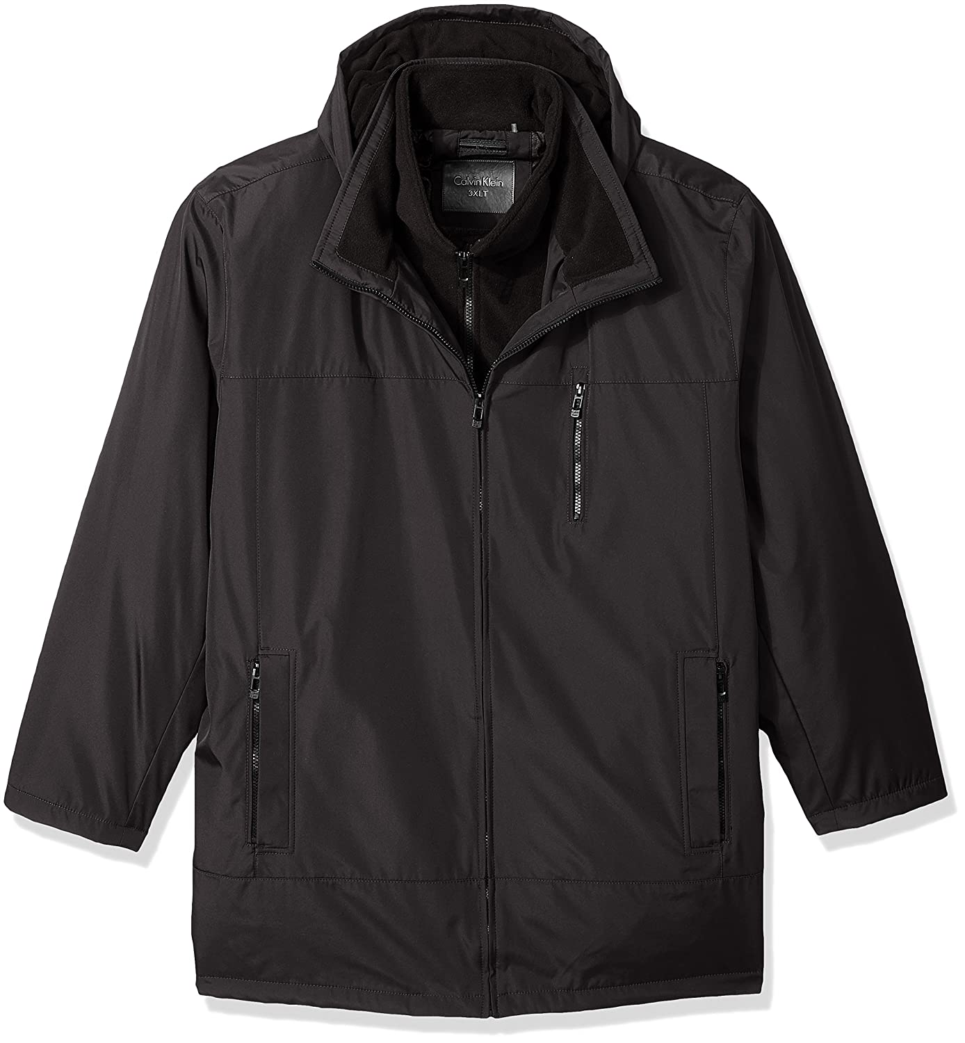 Calvin Klein Mens Big-Tall Big-Tall Poly Bonded Hooded Vestie Calvin Klein Mens Outerwear CMB01073/CML01073