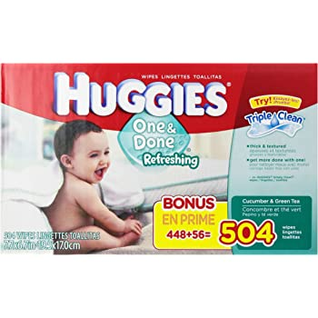Amazon Com Huggies One Amp Done Baby Wipes Soft Pack