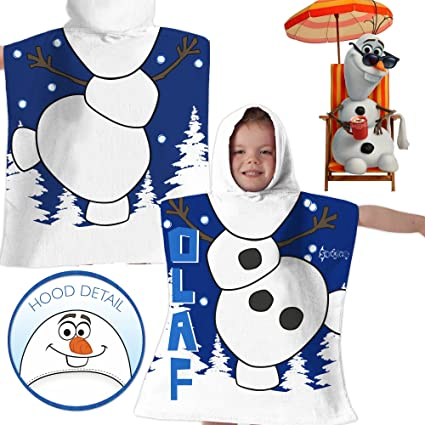 Disney Olaf de Frozen Poncho con capucha toalla dress up impreso campana