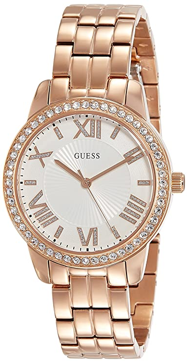 Guess Analog White Dial Women's Watch - W0444L3 Women's Watches at amazon
