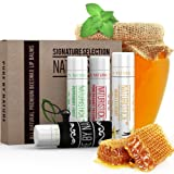 Amazon Price History for:All Natural Lip Balm Set with Bonus Holder by Naturistick, Best Chapstick for Dry, Chapped Lips, 4 Flavor Variety Pack with Aloe Vera, Vitamin E, and Coconut Oil for Men, Women and Kids, Made in USA
