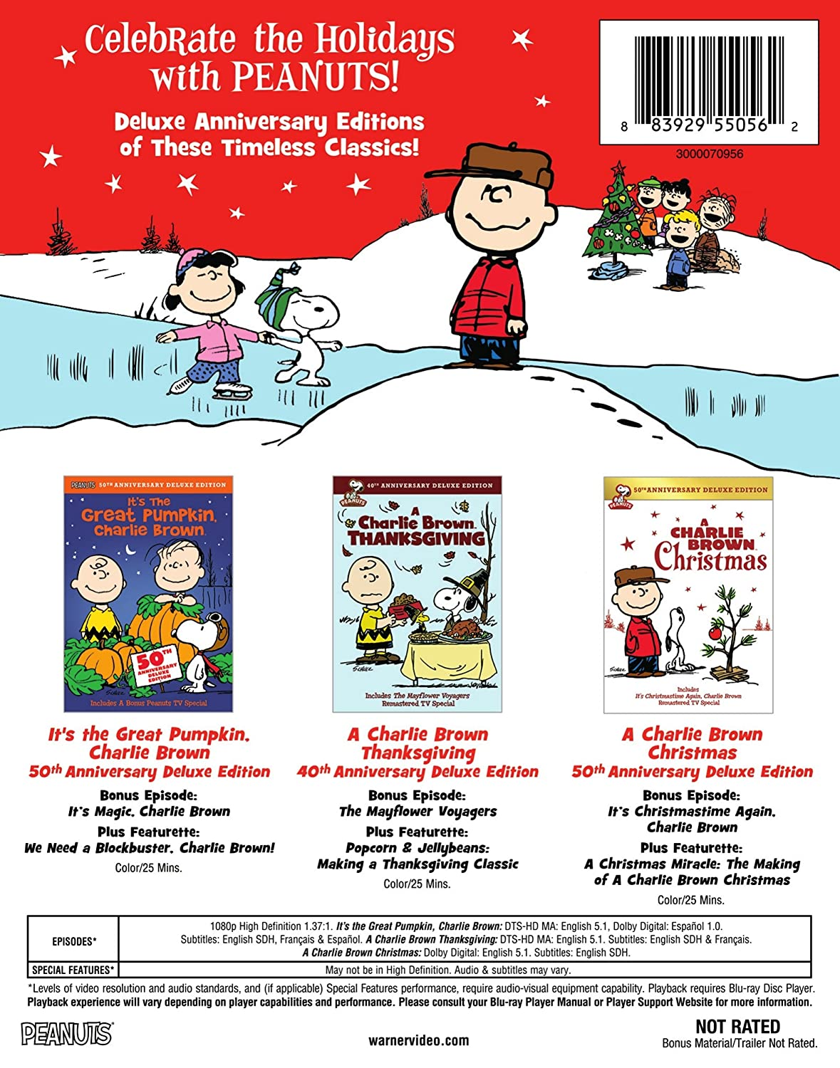 amazon com peanuts holiday anniversary collection bd blu ray