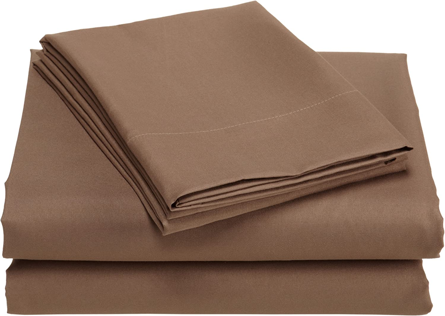 Divatex Home Fashions Microfiber King Sheet Set, Bronze