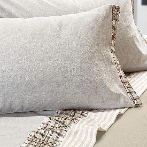 Cogal® - Conjunto de sábanas Franela - Chamonix - fantasía, Material 100% Algodón - Made in Italy: Amazon.es: Hogar