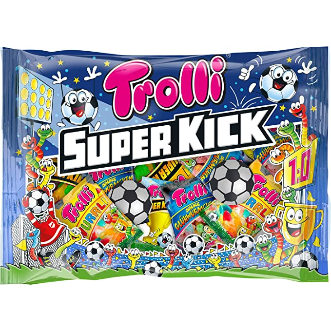 Super Kick Surtido Golosinas Fútbol TROLLI Bolsa 450 g ...
