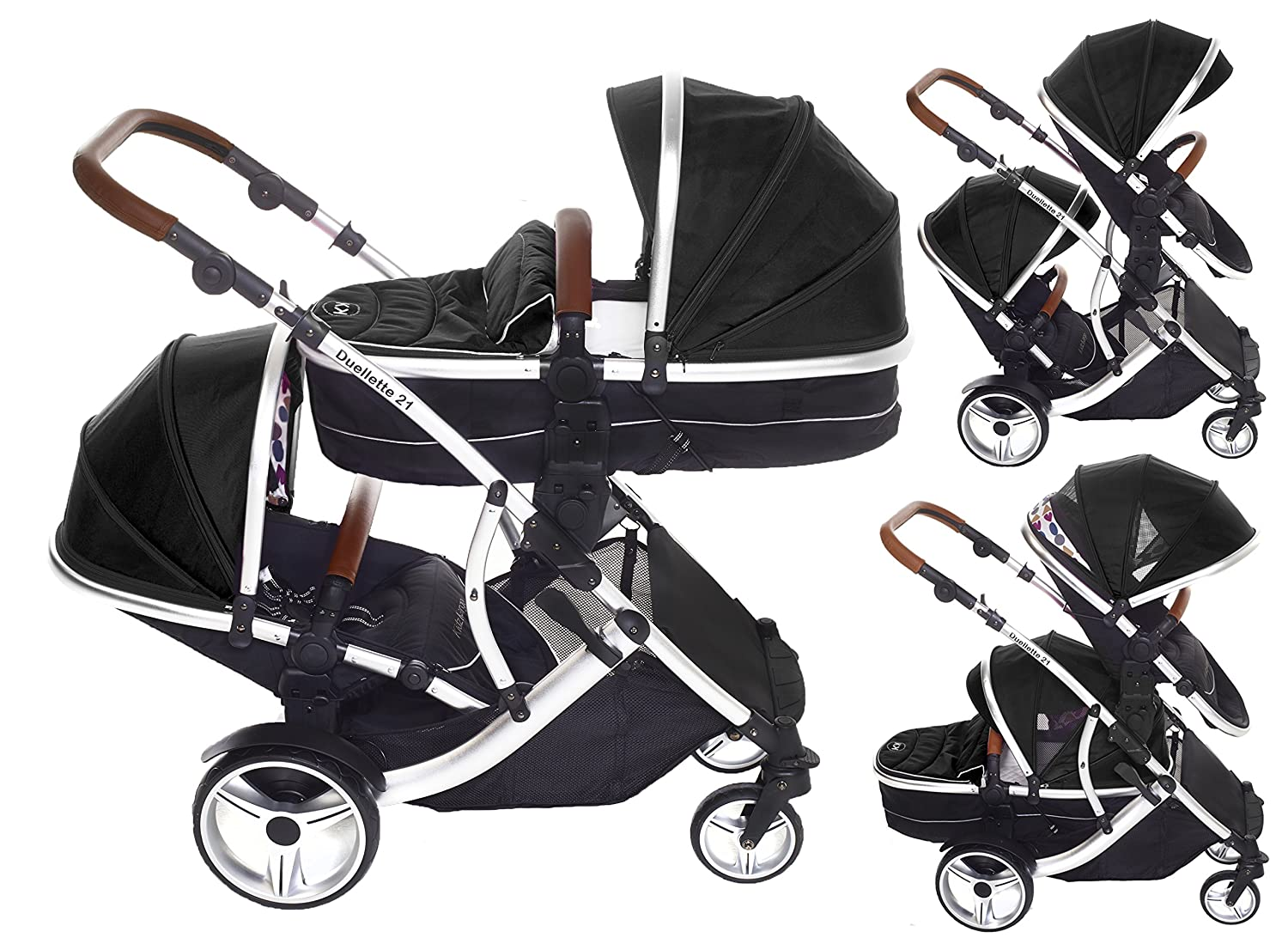 Kids Kargo Duellette 21 BS Combi Tandem Double Twin Pushchair
