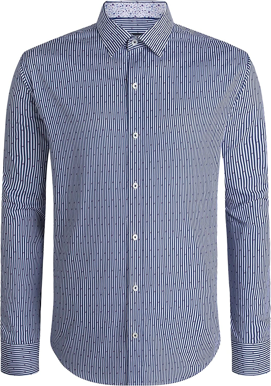 Bugatchi Men's Max 64% OFF Classic Shirt 5 ☆ very popular Fashion