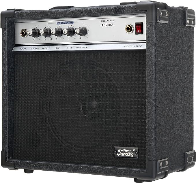 """B-WARE E-Bass Verstärker 15 Watt Bass Combo Amp 6,5/"""" Lautsprecher EQ Kopfhörer"""