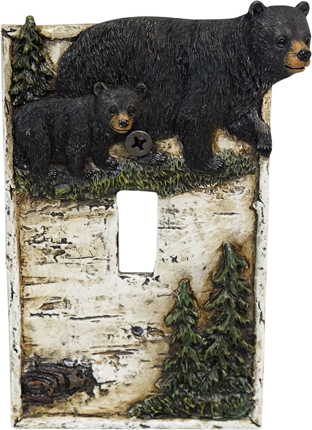 LL Home Bear ON Birch Single Switch Cover Home Decor