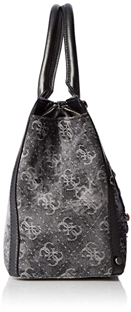 Guess Badlands, Womens Top-Handle Bag, Black (Black Denim/Bld), 32x24x14.5 cm (W x H L): Handbags: Amazon.com