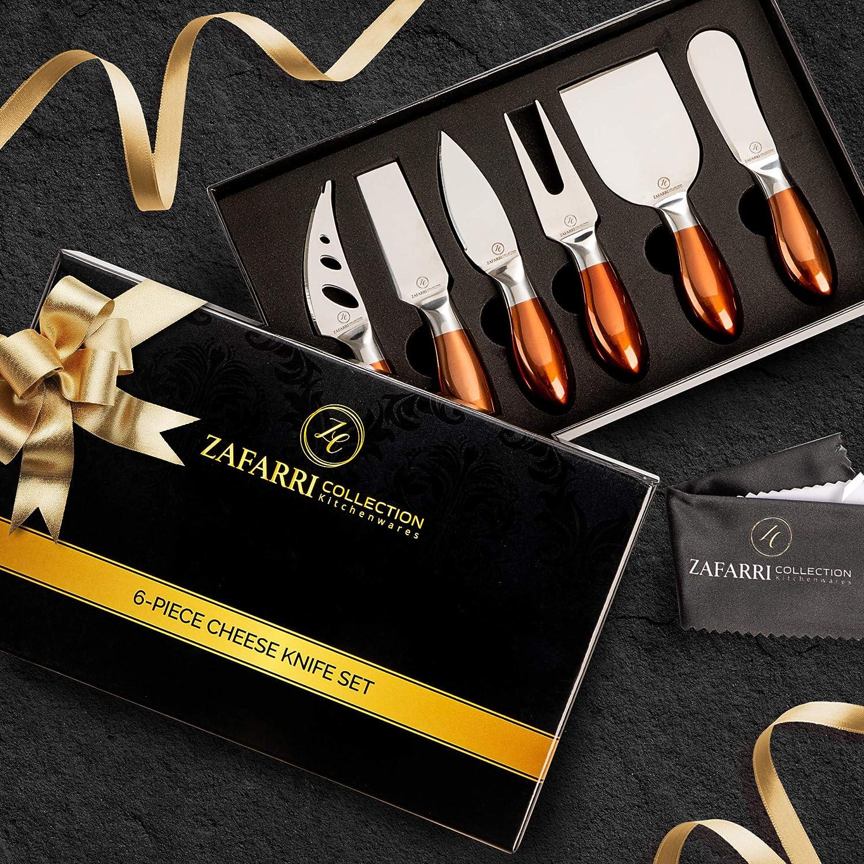 Amazon.com: Elegantes cuchillos de queso, juego de 6, acero ...