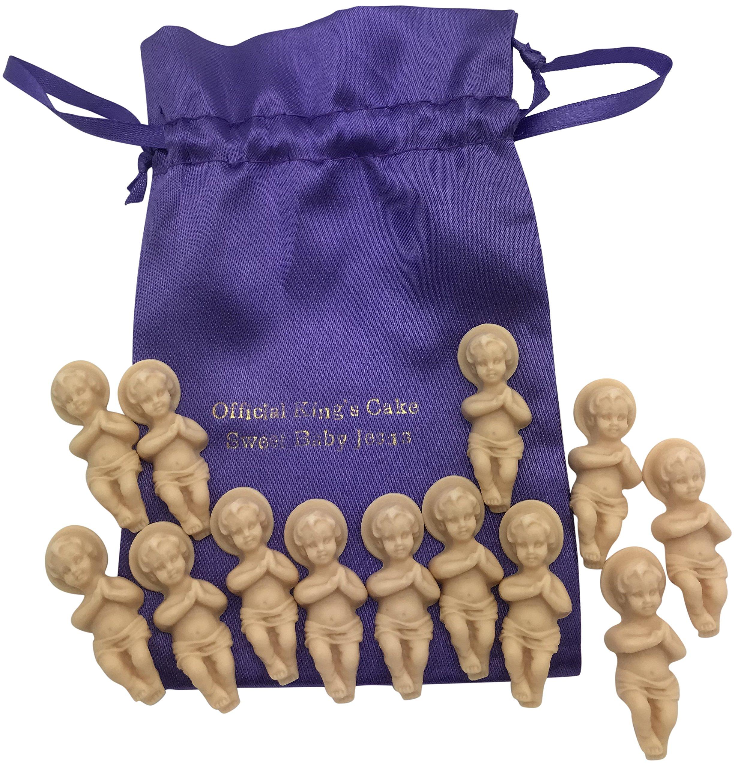 Westman Works Kings Cake Babies Bakers Dozen Set with Gift Bag and Thirteen Sweet Baby Jesus Figurines