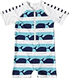 Snapper Rock Baby Boys & Baby Girls UPF 50+ UV Protective Warm Short Sleeve Swimsuit For Kids