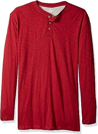 Lee Henley - Camisa de manga larga para hombre: Amazon.es: Ropa y accesorios