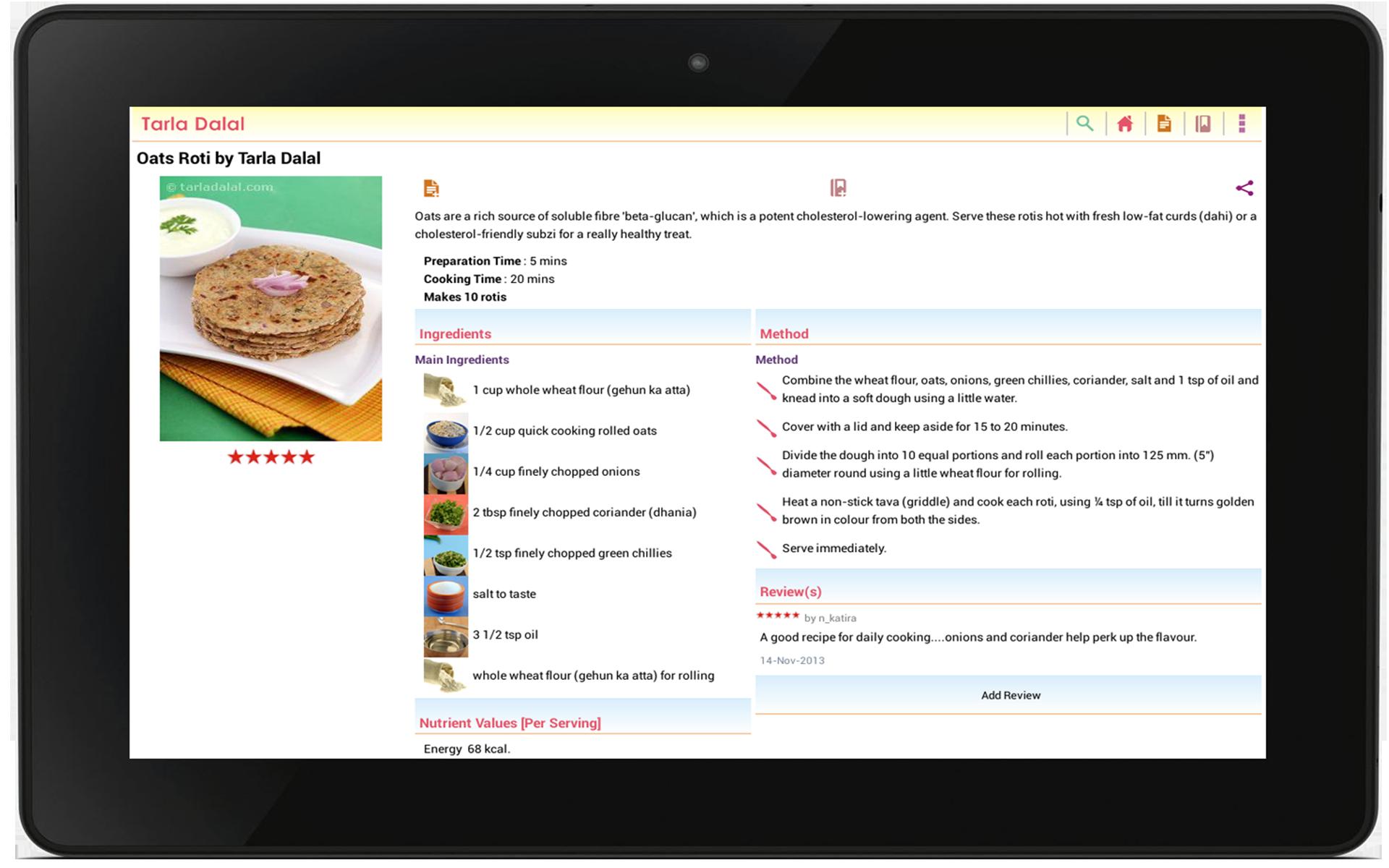 Amazon.com: Tarla Dalal Recipes: Appstore for Android