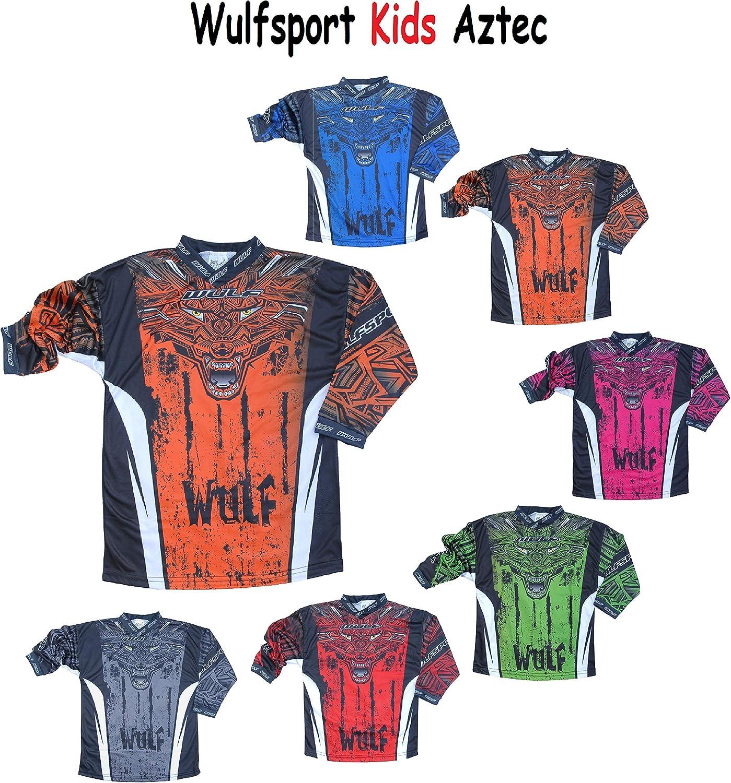 2017 NEW Wulfsport Attack CUB JUNIOR KIDS Motocross Shirt Motorbike Quad Jersey Blue,11-13 Years