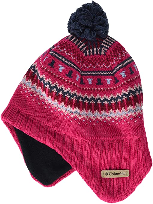 Columbia Enfant Bonnet, Youth Winter Worn II Peruvian, Acrylique, Rose  (Cactus Pink f00c4ccd154