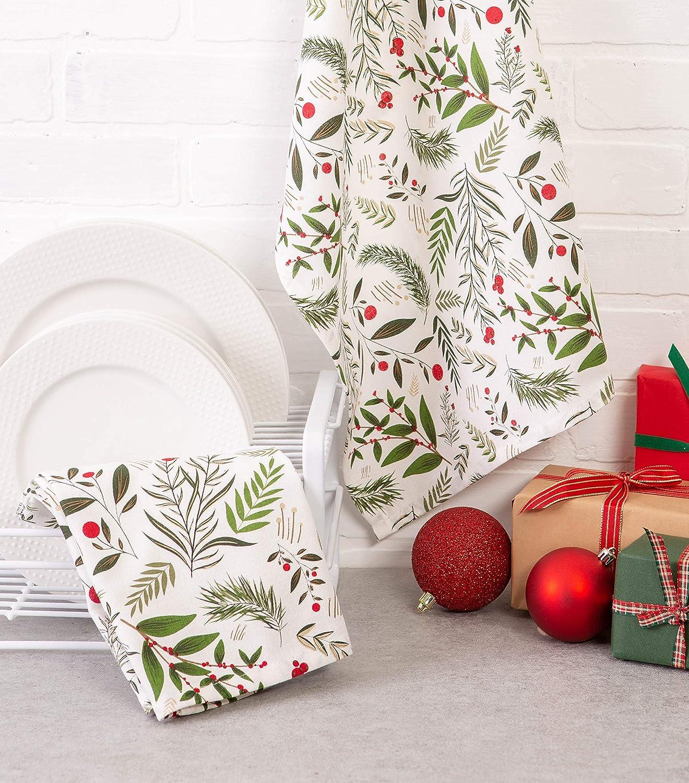 DII Toallas decorativas de algodón, diseño navideño, 45 x 71 cm: Amazon.es: Hogar