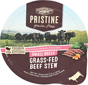 Castor & Pollux Pristine Grass-Fed Beef Stew Small Breed Dog Food, 3.5 OZ
