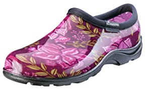 Sloggers Waterproof Rain & Garden Clogs Shoes, Floral Spring Surprise, Spring Surprise, 10 - Made in The USA