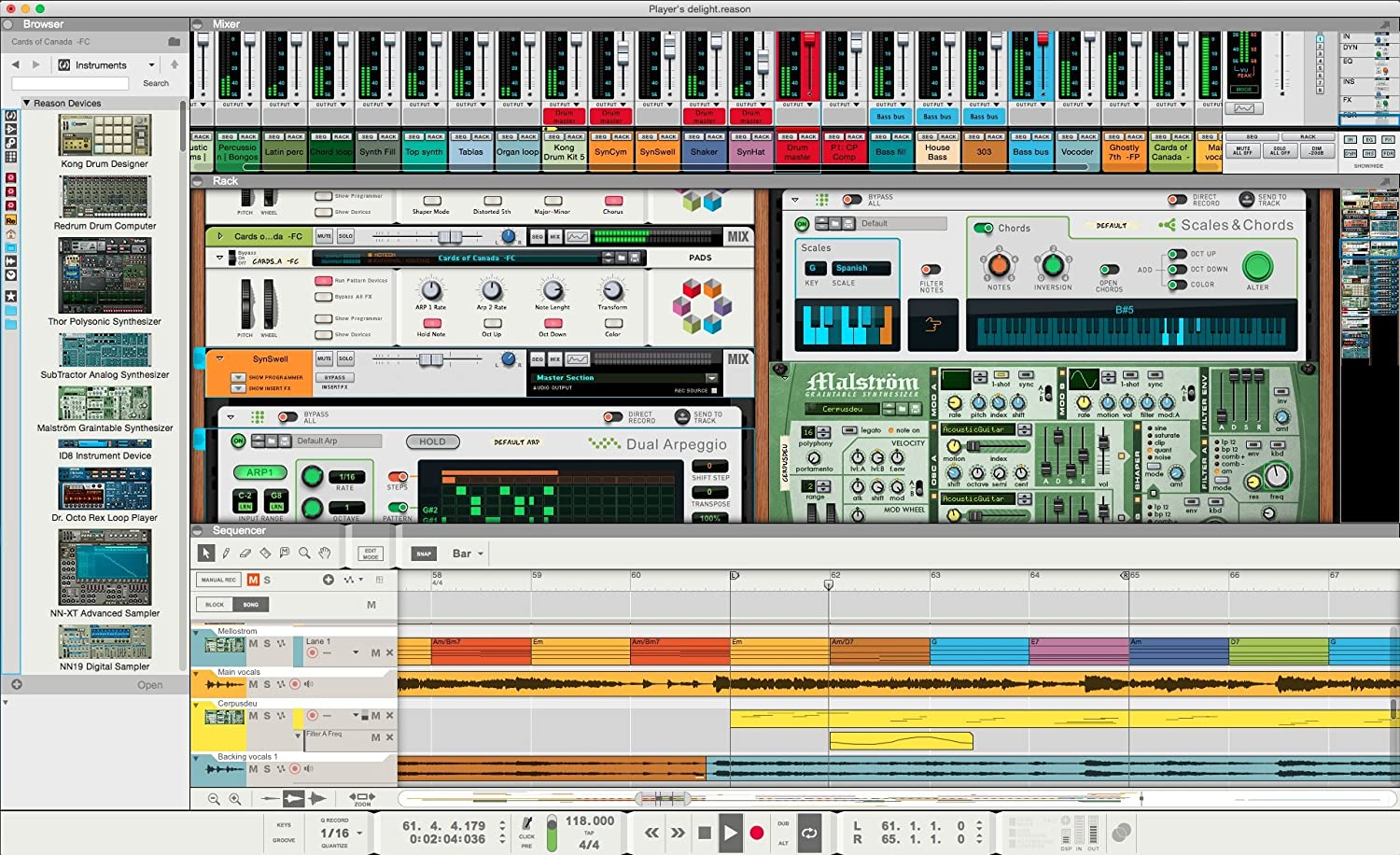 front facing propellerhead reason 9