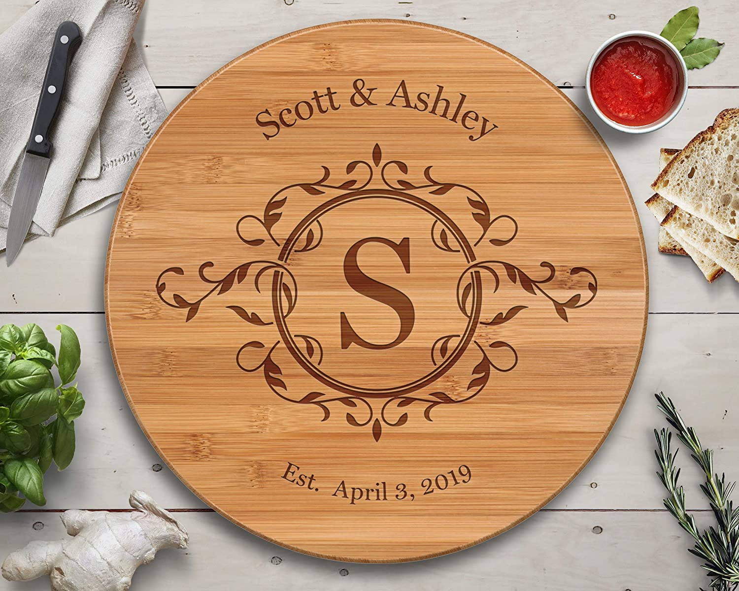 Beautiful Gift for Mom Mom Gifts Turntable Personalized Lazy Susan Best Mothers Day Gifts Thoughtful Gifts Lazy Susan Mothers Day 2019 Bamboo Custom Cutting Board Gifts for Mom