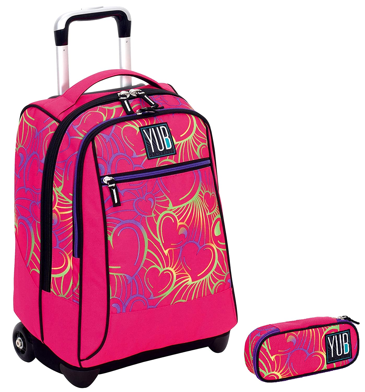 b27c125dcf Trolley YUB + Portapenne Round - rosa rosa rosa - Scuola elementari e Medie  & Viaggio 34 LT 967f50
